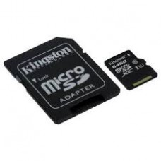 KINGSTON SDC10G2/64GBFR, 64GB microSDXC Class 10 UHS-I 45R Flash Card Far East Retail, 3 Years